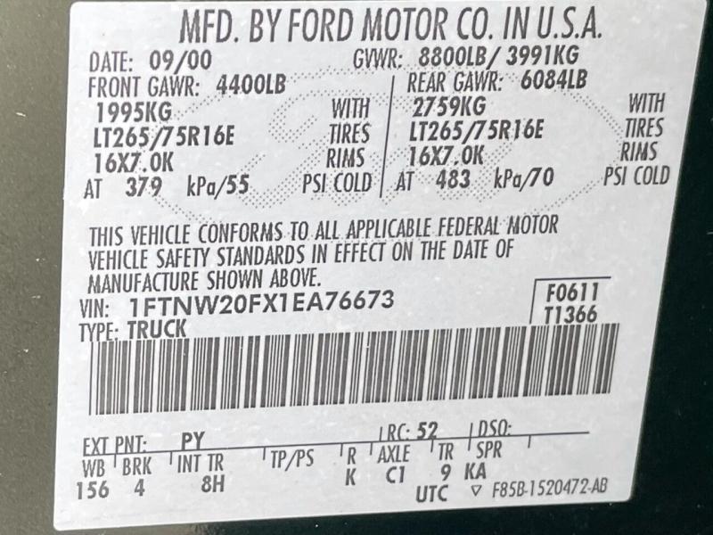 Ford F-250 Super Duty 2001 price $17,995