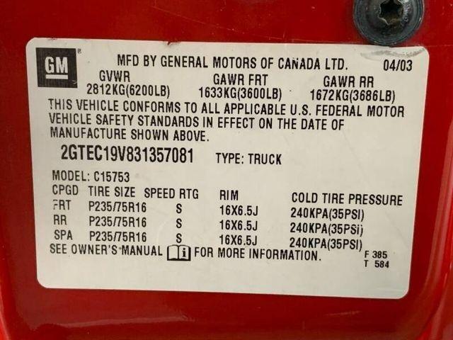 GMC Sierra 1500 2003 price $9,999