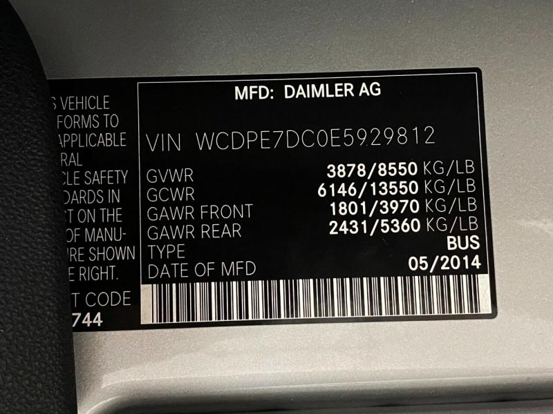 Freightliner Sprinter Passenger 2014 price $34,995