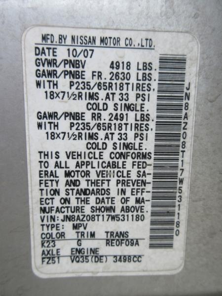 Nissan Murano 2007 price $6,999