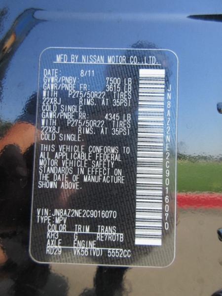 Infiniti QX56 2012 price $14,944