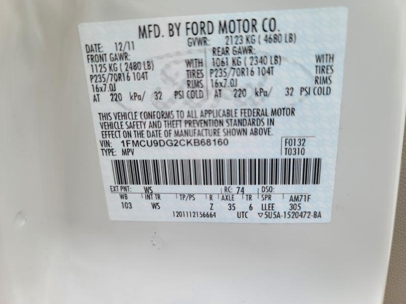Ford Escape 2012 price $11,650