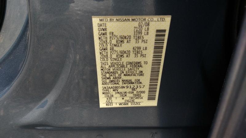 Infiniti QX56 2008 price $9,995