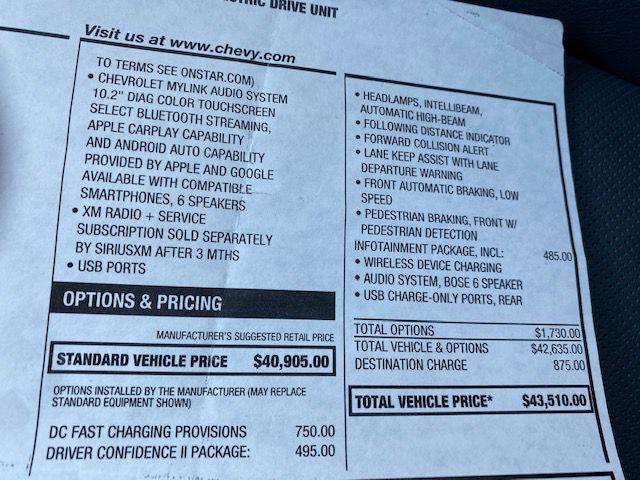 Chevrolet BOLT PREMIER 2017 price $17,990