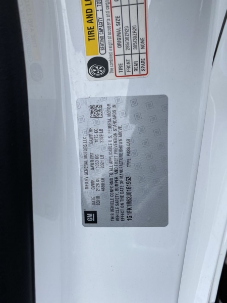 CHEVROLET CAMARO 2018 price $66,899