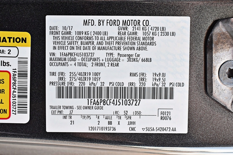 Ford Mustang 2018 price $35,900