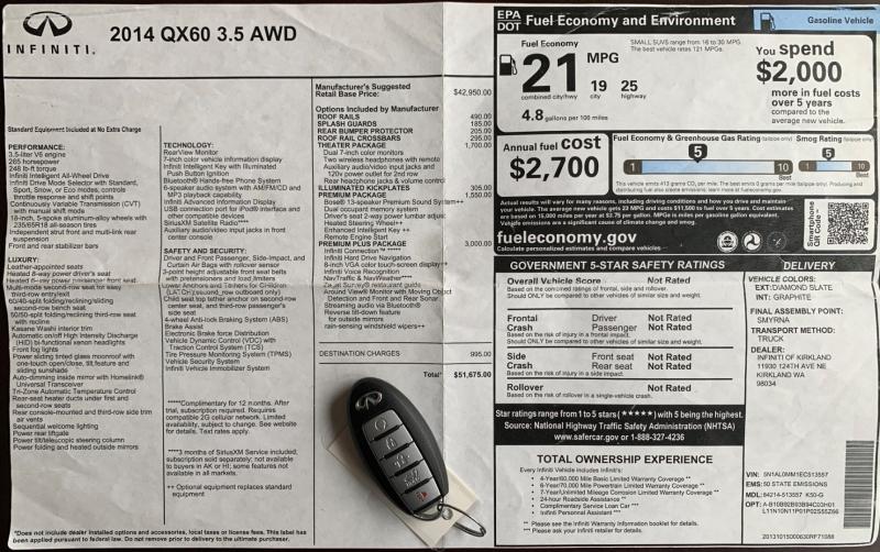 Infiniti QX 60 2014 price