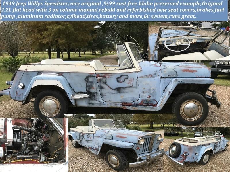 Jeep jeepster vj2 1949 price $9,990