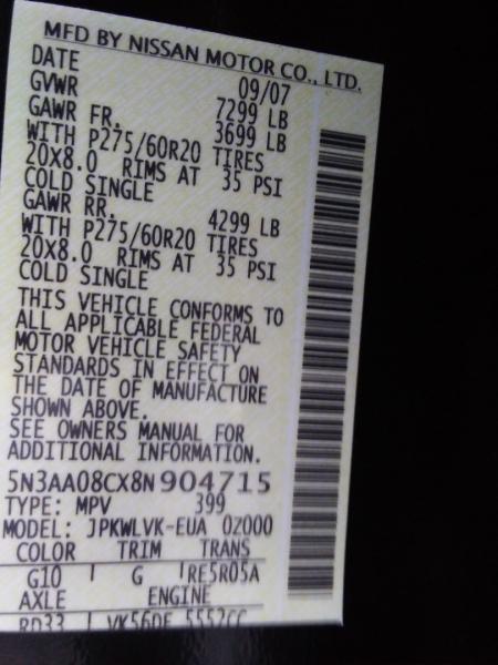 Infiniti QX56 NAV/DVD 2008 price $7,995 Cash