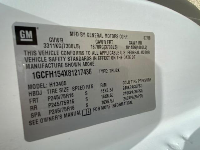 Chevrolet Express Cargo Van 2008 price $15,995