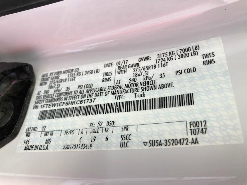 Ford F-150 4X4 FX-4 PKG 2017 price $30,888