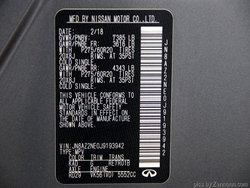 Infiniti QX80 2018 price $45,990