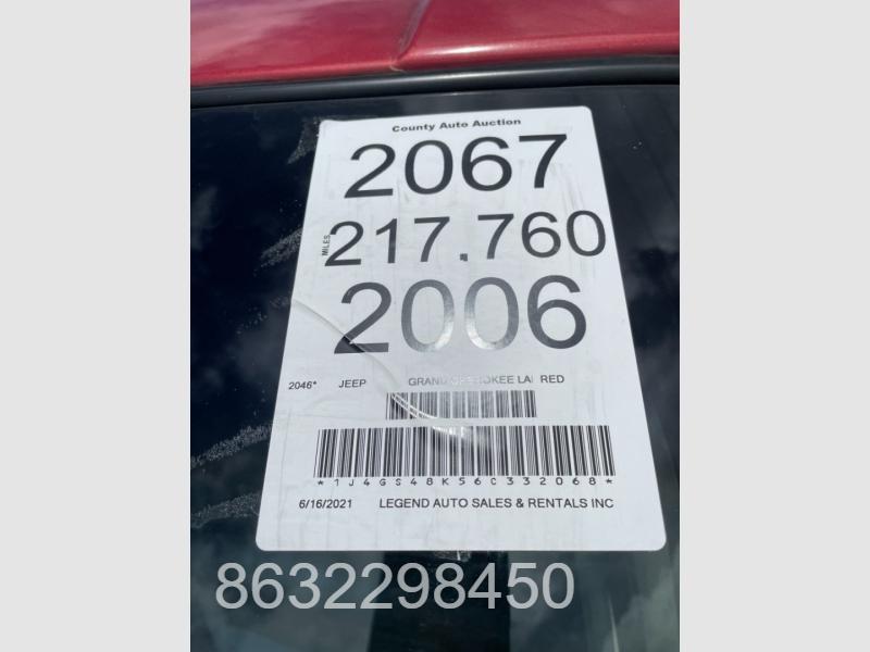 Jeep Grand Cherokee 2006 price $1,799