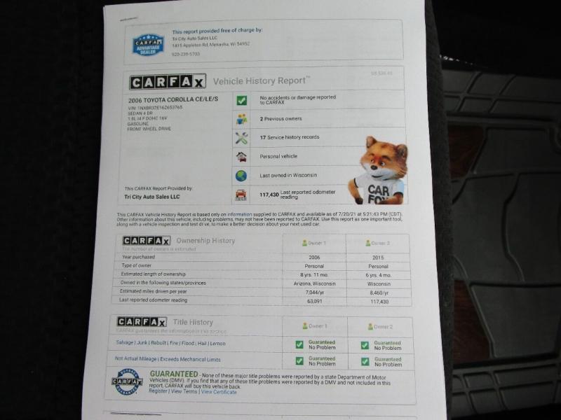 Toyota Corolla 2006 price $7,995