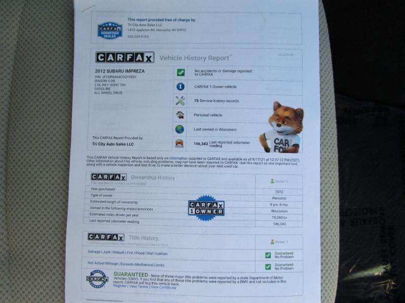 Subaru Impreza 2012 price $7,995