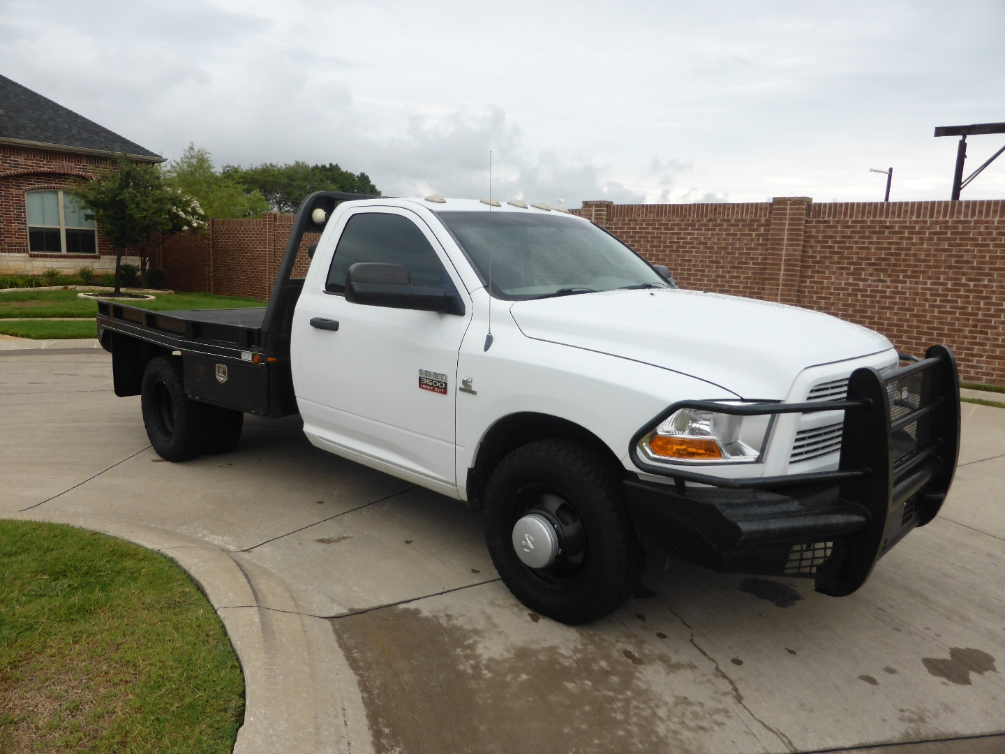 2012 Dodge Ram 3500 2wd Reg Cab St Cummins 6 Speed Flatbed Super Nice Low Miles Village Motors Dealership In Lewisville