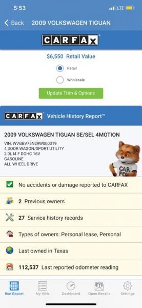 VOLKSWAGEN TIGUAN 2009 price $5,990