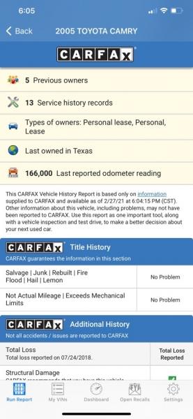 TOYOTA CAMRY SOLARA 2005 price $3,990