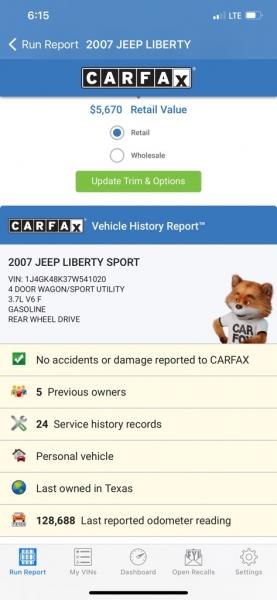 JEEP LIBERTY 2007 price $4,500