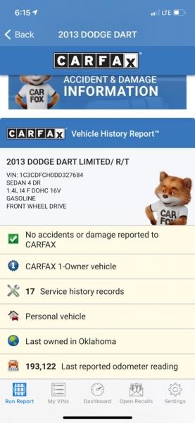 DODGE DART 2013 price $4,500