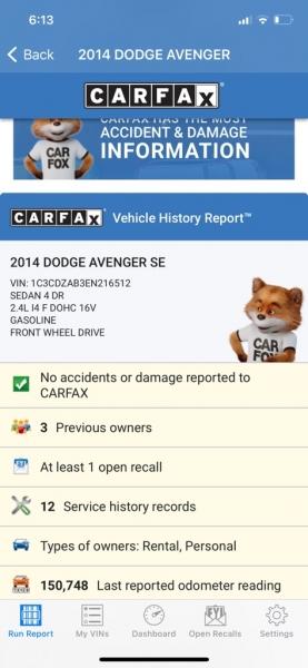 DODGE AVENGER 2014 price $5,500