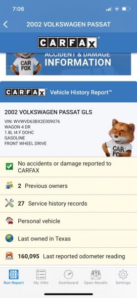 VOLKSWAGEN PASSAT 2002 price $3,990