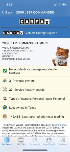 JEEP COMMANDER 2006 price $6,990