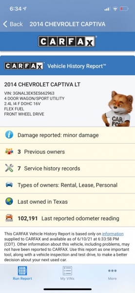 CHEVROLET CAPTIVA 2014 price $7,990
