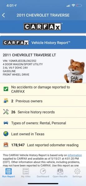 CHEVROLET TRAVERSE 2011 price $7,990