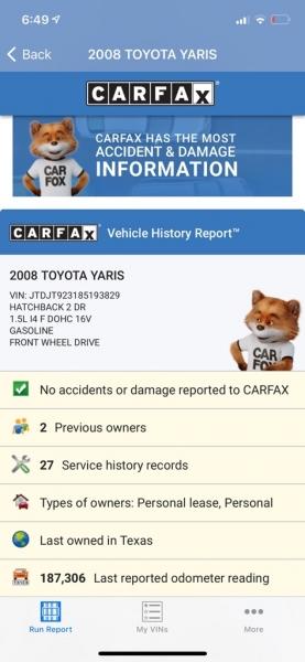 TOYOTA YARIS 2008 price $5,500