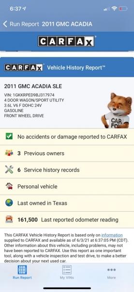 GMC ACADIA 2011 price $6,990