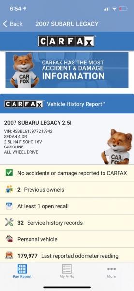 SUBARU LEGACY 2007 price $4,990