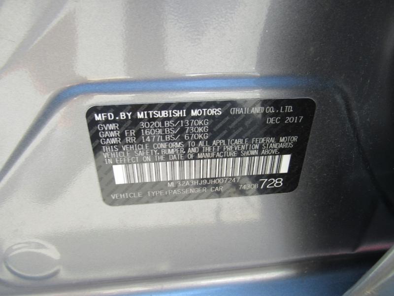 Mitsubishi Mirage 2018 price $6,295