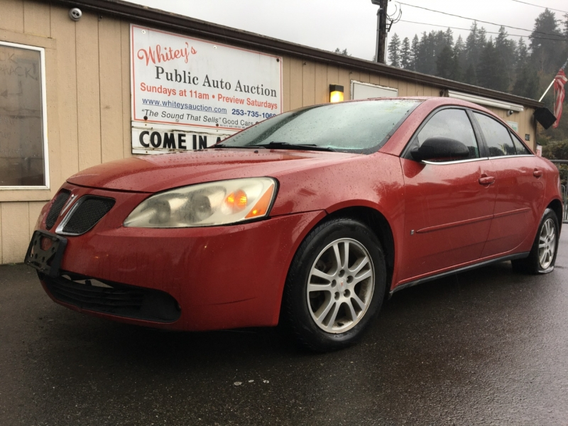 Pontiac G6 2006 price $1,285 Cash