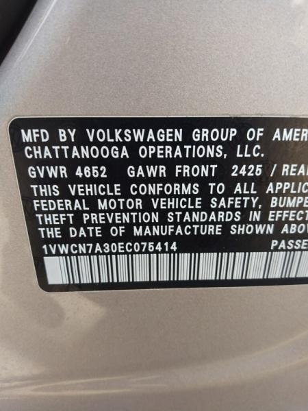Volkswagen Passat 2014 price $16,995