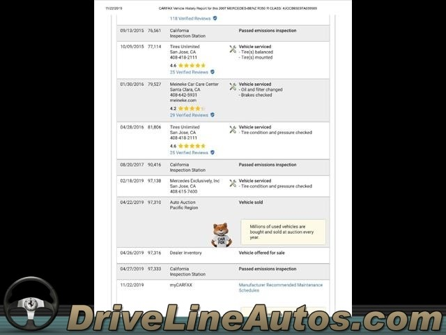 Mercedes-Benz R-Class 2007 price $8,995