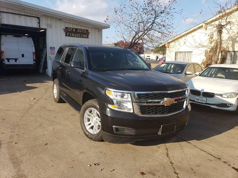 2019 Chevrolet Tahoe Lt 4x2 4dr Suv Dfw Auto Financing Llc Dealership In Dallas