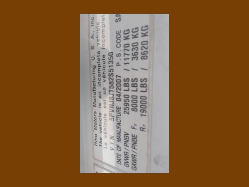 Hino 268A 2008 price $32,995