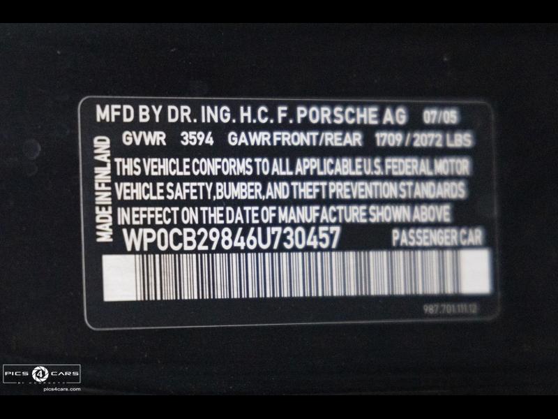 Porsche BOXSTER S 2006 price $29,888
