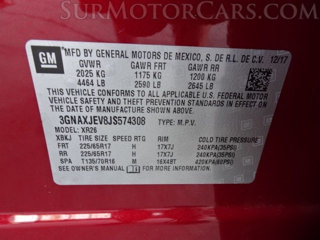 Chevrolet Equinox 2018 price $7,950