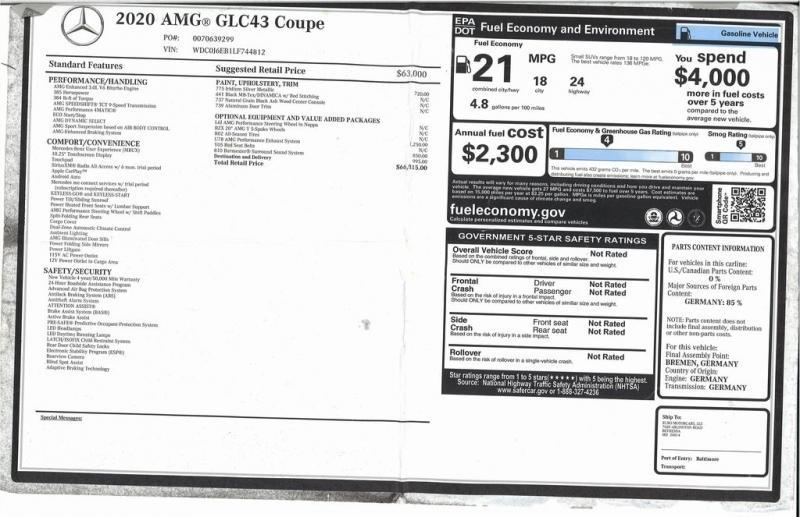 Mercedes-Benz GLC 2020 price $66,000