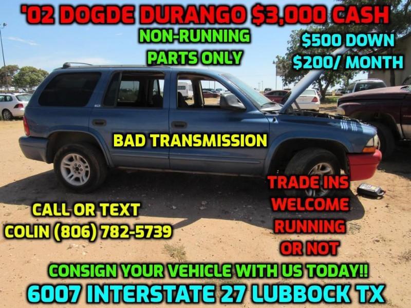 DODGE DURANGO 2002 price $3,000