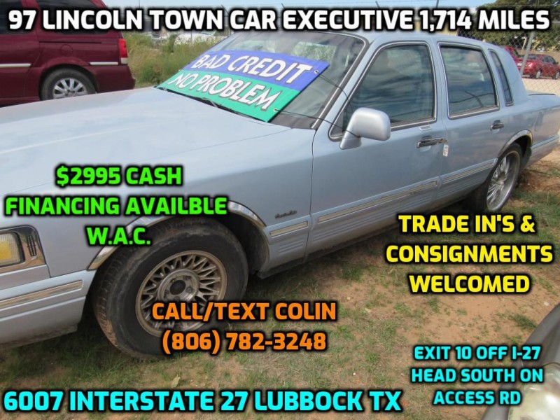 LINCOLN TOWN CAR 1997 price $2,995