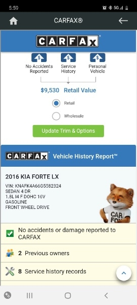 Kia Forte 2016 price $6,999 Cash