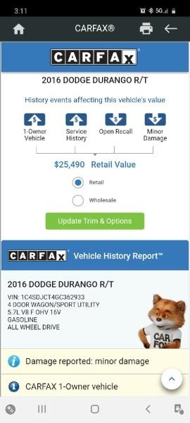 Dodge Durango 2016 price $24,999 Cash