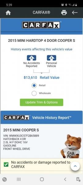 Mini Cooper Hardtop 4 Door 2015 price $11,999 Cash