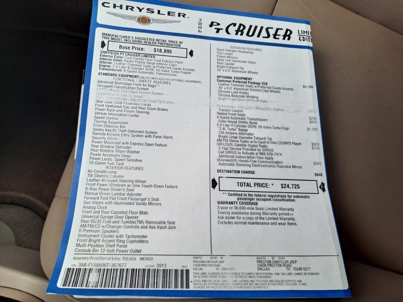 Chrysler PT Cruiser 2006 price $8,999 Cash