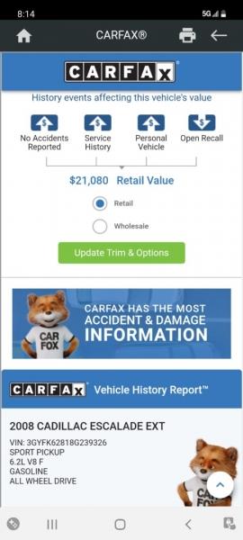 Cadillac Escalade EXT 2008 price $16,999 Cash