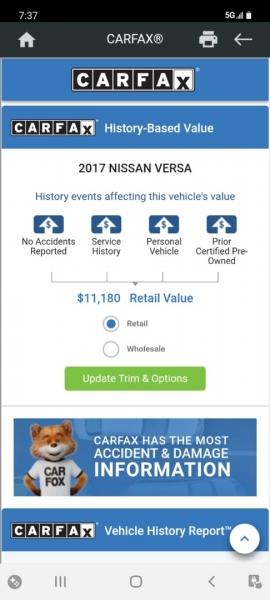 Nissan Versa Sedan 2017 price $8,999 Cash