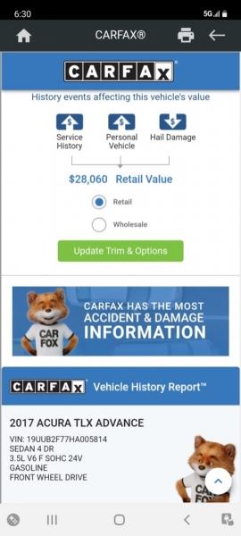 Acura TLX 2017 price $24,999 Cash